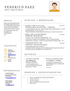 CV para preencher