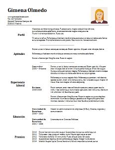 Excelente CV clásico, sencillo y moderno