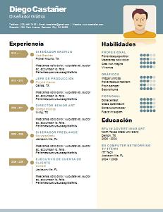 Modelo de currículum clásico en español
