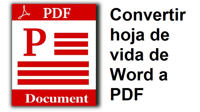 convertidor de formato word a pdf gratis